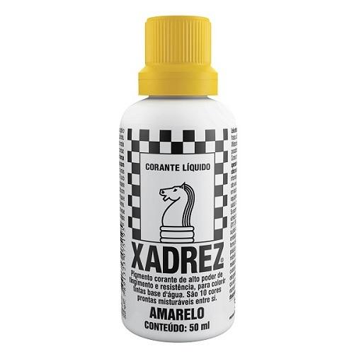 CORANTE XADREZ AMARELO 50ML PT-12