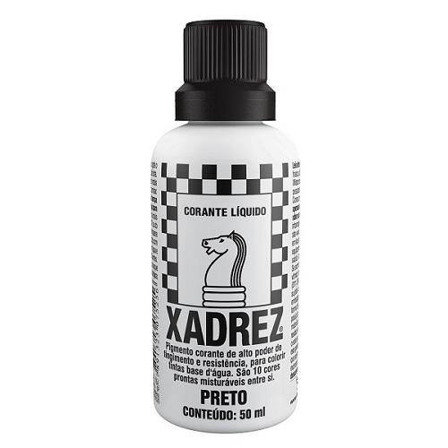 CORANTE XADREZ PRETO 50ML PT-12