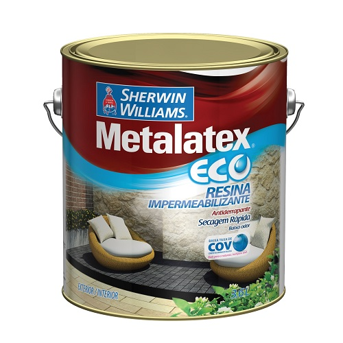 METALATEX ECO RESINA IMPERMEABILIZANTE INCOLOR - GALAO 3,6 LTS