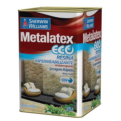 METALATEX ECO RESINA IMPERMEABILIZANTE INCOLOR - LATA 18 LITROS