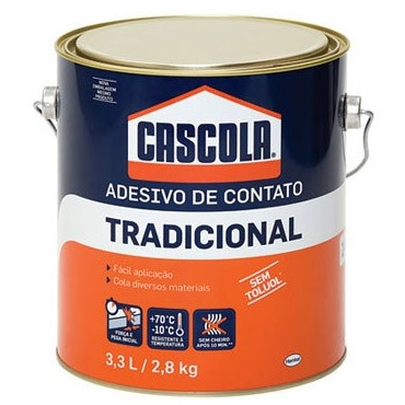 COLA DE CONTATO S/ TOLUOL 2,8KG CASCOLA - HENKEL
