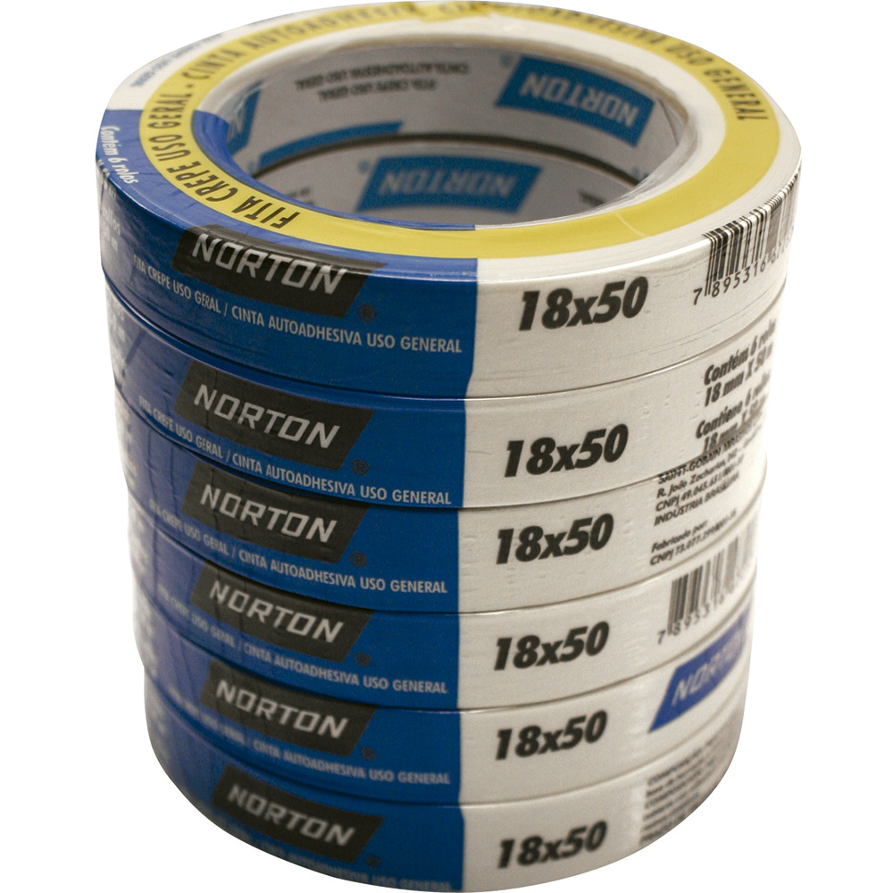FITA CREPE 18MM X 50M PT-06 - NORTON