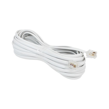 EXTENSAO TELEFONE LISA 5,0M BRANCO - INTERNEED
