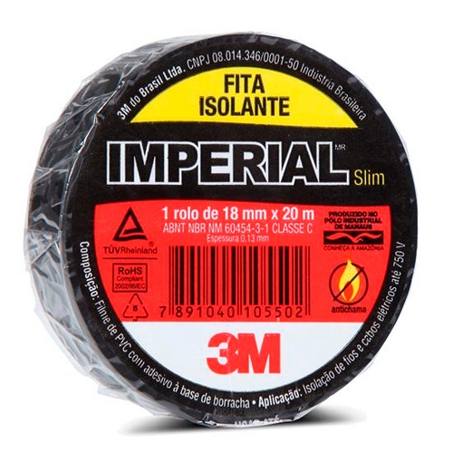 FITA ISOLANTE 18MM X 10MT IMPERIAL SLIM - 3M