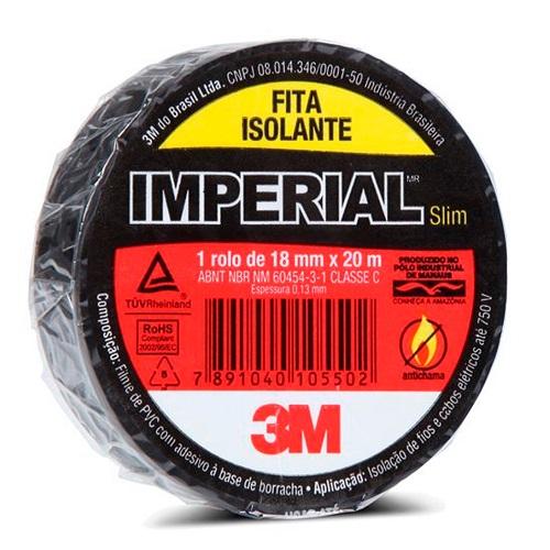 FITA ISOLANTE 18MM X 20M IMPERIAL SLIM - 3M