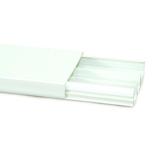 CANALETA PVC 40MMX2,2MT BR C/ DIVIS. C/ FITA CX-15 - MEC-TRONIC