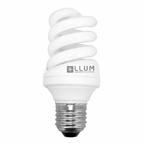 LAMPADA FLUORESCENTE ELETRONICA ESPIRAL 25W 127V 6400K - LLUM
