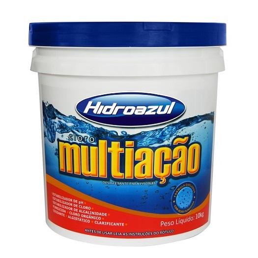 CLORO MULTI-ACAO BALDE 10KG - HIDROAZUL
