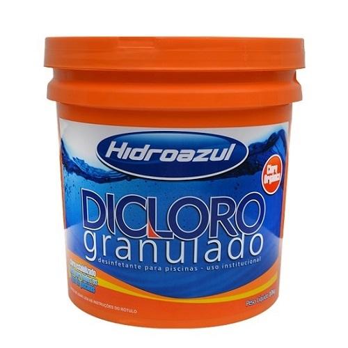 CLORO GRANULADO BALDE 10KG - DICLORO - HIDROAZUL