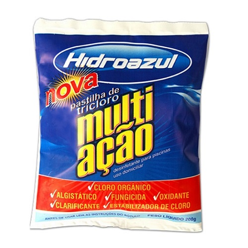 PASTILHA DE CLORO MULTI-ACAO PT 200GR - HIDROAZUL