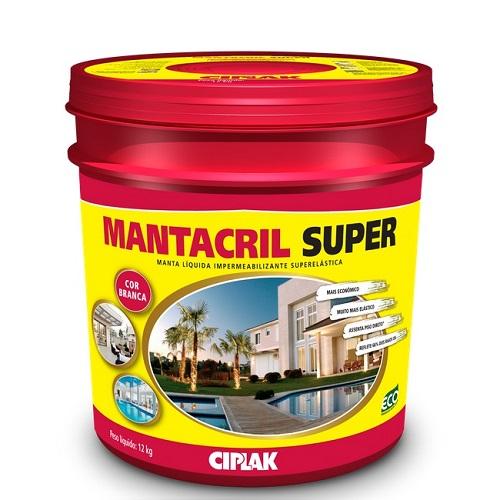 MANTACRIL SUPER MANTA LIQUIDA BALDE PLASTICO 12 LTS - CIPLAK