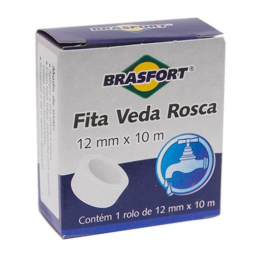 FITA VEDA ROSCA 12MM X 10M - BRASFORT
