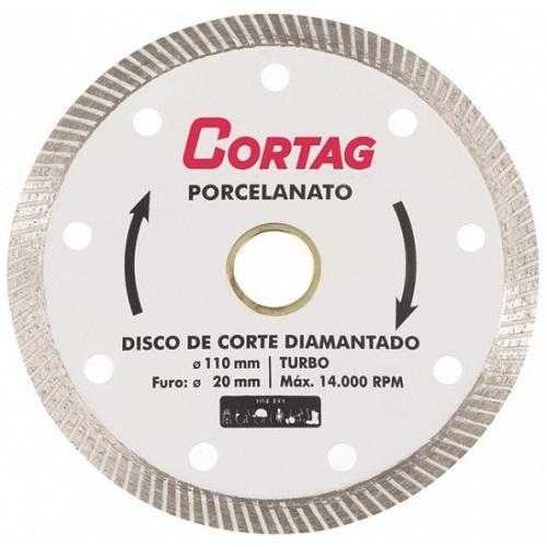 DISCO DIAMANTADO TURBO PORCELANATO/CERAMICA 110MM - CORTAG