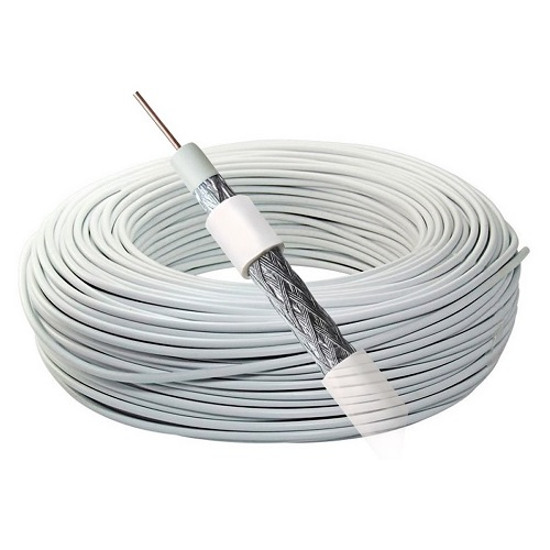 CABO COAXIAL RG 59 67% 100MTS BRANCO - FOXLUX