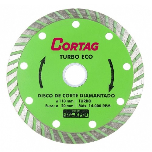 DISCO DIAMANTADO TURBO 110MM - CORTAG