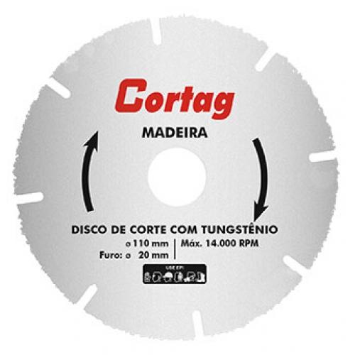 DISCO P/ MADEIRA P/ SERRA MARMORE C/ TUNGSTENIO 110MM - CORTAG