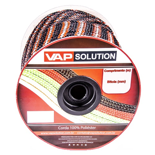 CORDA COLORIDA PET CARRETEL 04MM 230M - VAP SOLUTION