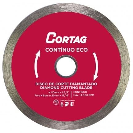 DISCO DIAMANTADO CONTINUO LISO 110MM - CORTAG