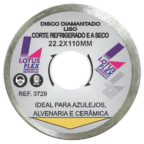 DISCO DIAMANTADO CONTINUO LISO 110MM - LOTUS