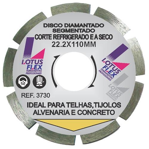 DISCO DIAMANTADO SEGMENTADO 110MM - LOTUS