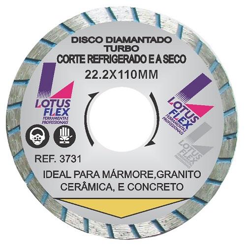 DISCO DIAMANTADO TURBO 110MM - LOTUS