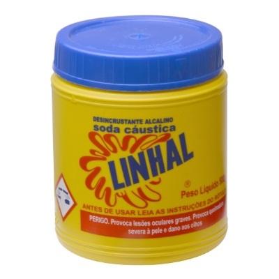 SODA CAUSTICA POTE 500G - LINHAL