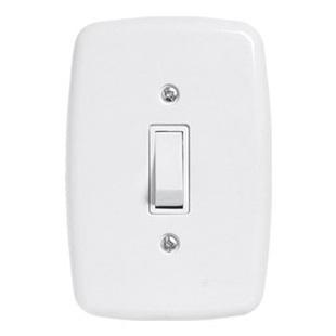 1 INTERRUPTOR SIMPLES COM PLACA 10A 250V IDEALE - PLUZIE