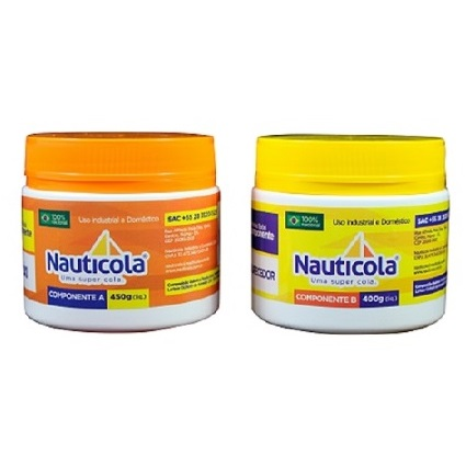 ADESIVO EPOXI COMPONENTE A(450GR) COMPONENTE B(400GR) - NAUTICOLA