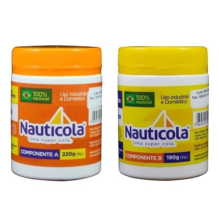 ADESIVO EPOXI COMPONENTE A(220GR) COMPONENTE B(190GR) - NAUTICOLA
