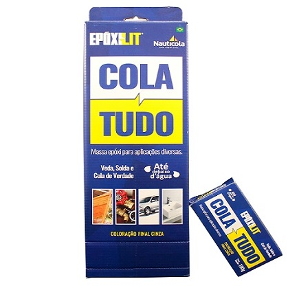 COLA TUDO EPOXILIT CX - 10UN 100GR - NAUTICOLA