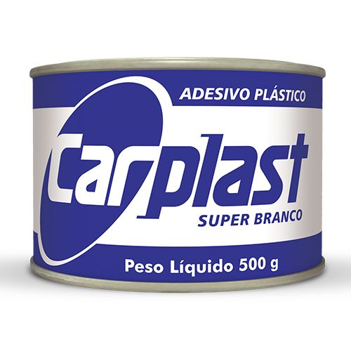MASSA ADESIVA PLASTICA BRANCA 500GR - CARPLAST