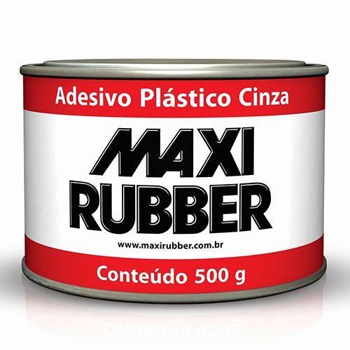MASSA ADESIVA PLASTICA CINZA 500G - MAXI RUBBER